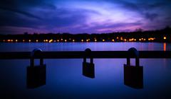 Calm.. (Conrad-N) Tags: reflection fence bad locks friday kurort saarow fe35mm