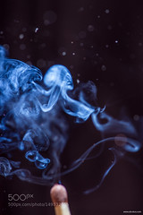 Lucifer's match (tycampbe) Tags: abstract macro strange face fire amazing lucifer bokeh smoke match abstraction copyspace 105 horrible matches popular scare mach accidentally 500px bokehworld ifttt
