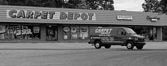 Carpet Depot (micro.burst) Tags: bw truck georgia suburban storefronts gwinnettcounty snellville pentaxk3 dxoopticspro10