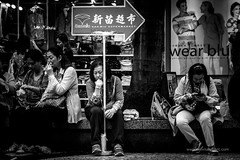 Job Satisfaction (Dan Marchant) Tags: china signs monochrome photography blackwhite asia objects places macau oriental orient bwphotography locations continents destinations streetdocumentary