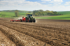 Corn Seeding 2016 | New planter Vderstad Tempo L in Czech republic (martin_king.photo) Tags: new weather work photo spring corn king republic martin czech working tschechische republik machinery mais l machines agriculture planter tempo maize planting 950 powerfull claas seeding axion vderstad martinkingphoto