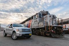 The New Whip (sullivan1985) Tags: sunset ford truck nj engine meadows pickup f150 transit maintenance locomotive morrison mmc complex geep emd knudsen gp40 4149 njtr gp40ph2a