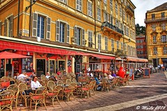 Caf (Maurizio Longinotti) Tags: street france colors town nice cotedazur place piazza colori francia ville nizza caf