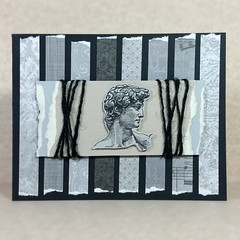 Wesley (telltalecreations.cards) Tags: david monochrome handmade monotone wesley greetingcard papercrafts artsandcrafts papercollage handmadecard cardmaking papercrafting tornpaper