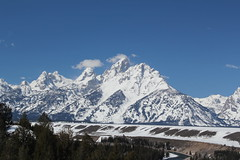 Grand Teton from Snake River Overlook 2 (Aggiewelshes) Tags: travel winter snow landscape scenery april wyoming jacksonhole grandtetonnationalpark 2016 gtnp snakeriveroverlook