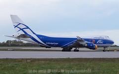 VQBHE - 26 04 2016 @ LEJ-2 (a.gembi) Tags: sticker boeing 747400 planespotting lej eddp flughafenleipzighalle airbridgecargo leipzighalle vqbhe lejeddp