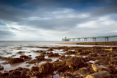 Between the Showers (~g@ry~ (clevedon-clarks)) Tags: uk longexposure seascape seaweed landscape coast pier rocks victorian somerset coastal incomingtide filters clevedon northsomerset grade1 clevedonpier bristolchanel milkywater 10stopnd hitechfilters milkyrocks mistyrocks