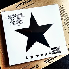 Blackstar (anjin-san) Tags: uk greatbritain england square bowie amazon mail unitedkingdom cd lofi squareformat gb hertfordshire davidjones davidbowie blackstar compactdisk 2016 launchday releaseday iphoneography instagramapp uploaded:by=instagram
