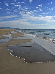 Water over the edge (VillaRhapsody) Tags: beach sea karadere patara water mediterranean blue clouds weather autumn sunny reflections outdoors nature challengeyouwinner