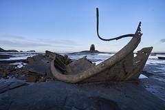 Shipwreck at Saltwick Nab (tj.blackwell) Tags: ocean uk sea england abandoned mystery coast fishing rust yorkshire rocky vessel shipwreck northsea whitby beached wreck wreckage trawler saltwickbay blacknab admiralvontromp