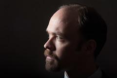 Self portrait light study (IanHartS) Tags: portrait selfportrait man beard goatee nikon flash indoors d700