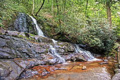 Laurel Falls, Great Smoky Mountains National Park - North Carolina and Tennessee (Andrea Moscato) Tags: wood orange usa mountain green nature water rock america forest landscape us nationalpark unitedstates natural stones vivid natura national np acqua montagna paesaggio freshwater statiuniti naturale andreamoscato