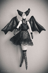 The Bat Tilda Doll (Mara Fox) Tags: black toy doll handmade gothic bat tilda