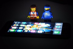 The iPhone 6S!! :D (parik.v9906) Tags: new apple project lowlight nikon aluminum lego gray days legos 365 iphone d90 6s 365days spacegray 3dtouch