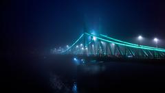 Winter evening and the Liberty Bridge (kismihok) Tags: bridge winter fog lights evening hungary darkness sony budapest duna magyar danube kod magyarorszag 1650 libertybridge szabadsaghid nex7