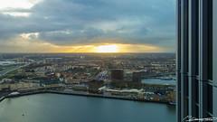 Uitzicht over Rotterdam Zuid (dorsman1970) Tags: winter water rotterdam nederland uitzicht zon stad landschap tegenlicht zonsopgang rotterdamzuid derotterdam