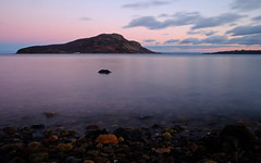 Holy Isle Sunset (@CycleTiger1) Tags: sea beach rock outdoor dusk blurred isleofarran holyisle mediumquality