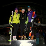 Kimberley Night Slalom - ladies' U18 podium - KAMACHI,Nakia 1st; NATALENKO,Kristina 2nd;