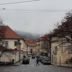 Valdtejnsk street (talien73) Tags: street old city urban mist town prague praha smaller lesser strana mal