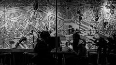 Shanghai - Paris - Shanghai (weihgoldd) Tags: map urban paris street people streetphotography women cafe blackwhite shanghai china