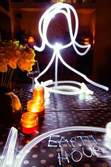 Earth Hour 2016 (oliyh - facebook.com/oliverhinephotography) Tags: longexposure light dinner candle artistic creative conservation romantic lightgraffiti wwf candlelit lighttrail earthhour