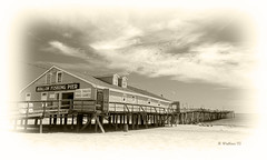Brian_OBX 90 LG Sepia_Light Vignette_062815_2D (starg82343) Tags: ocean sea vacation people seascape building beach sepia architecture outside outdoors pier wooden nc sand sandy shoreline northcarolina monotone structure pilings recreation grayscale activity 2d picturesque outerbanks eastcoast fishingpier waterscape brianwallace avalonfishingpier atlanatic