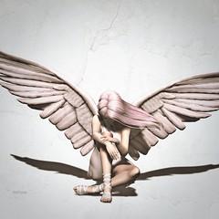 Sitting Angel (SixDigital) Tags: angel angelwings on9 poseit mesewsexy