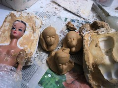 Some tests (doll4life14) Tags: fashion vintage project model barbie craft plaster clay how mold tutorial repro