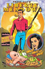 Liberty Meadows 08 Front Cover (zigwaffle) Tags: animals oscar dean humor leslie comicbook 1998 brandy spoof ralph frankcho marktrail libertymeadows
