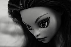 Jane (Allan Saw) Tags: portrait blackandwhite macro toy doll headshot extensiontube monsterhigh janeboolittle
