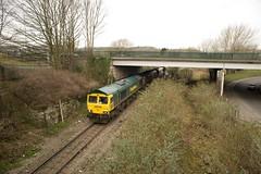 66596 Ashton Gate 06 March 2009 (Woolwinder) Tags: england bristol portishead freightliner 66596 generalmotorslocomotives ukclass66 portburybranch