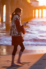 Manhattan Beach Pier -59   0011 (Katbor) Tags: girl cellphone manhattanbeach manhattanpier