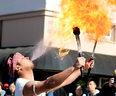 i'll have what he's having (who is yoohoo) Tags: parade squirrelhill fireeater yearofthemonkey
