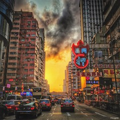 Dusk in Mongkok (van*yuen) Tags: colour hongkong dusk mongkok iphone citysnap feb2016