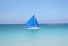 Sailing Boat (Paraw), Boracay, Western Visayas, Philippines (Darius Travel Photography) Tags: pentax philippines boracay filipinas pilipinas boracayisland    pentaxk100dsuper   filipinai