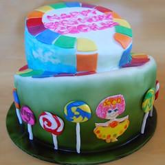 Candyland Cake (flickr gingr) Tags: cake 1980s lollipops candyland fondant