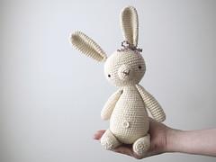 Meet Bunny! (Kitty Vane) Tags: rabbit bunny toy soft crafts crochet yarn button amigurumi