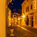 En gul kväll på El Castel de Guadalest