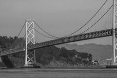 Oakland Bay Bridge (Ignacio Blanco) Tags: sanfrancisco california street bridge sculpture usa art america 1936 oakland bay coast unitedstates pacific homeless transport structure baybridge infrastructure interstate 80 engineer