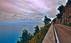 Cross the infinite (* landscape photographer *) Tags: road sea italy seascape tree colors alberi clouds flickr strada nuvole sasi colori paesaggio salvo lucania 2016 acquafredda nikond90 landscapephotographer salvyitaly