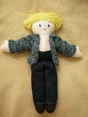 Boy Rag Doll - Blond (The Creative Beast) Tags: stuffedtoy ragdoll softtoy stuffie boyragdoll