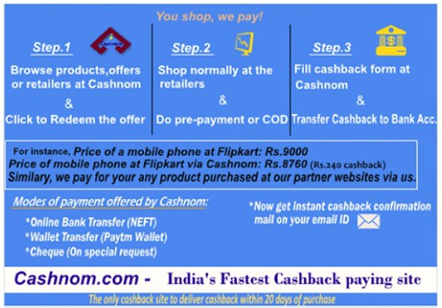 india offers deals cashback cashnom