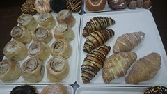Cinnamon Rolls and Assorted Croissants (tasteoflovebakery) Tags: cheese cinnamon cream fudge sugar rolls bavarian churro croissants