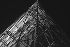 skeleton (Alanpaone) Tags: blackandwhite scaffolding verticality