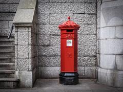 Tower Bridge SE1 | Penfold Pillar Box (James_Beard) Tags: red towerbridge grey replica postbox royalmail pillarbox penfold johnpenfold fujixf35mm fujixe2