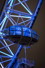 The last but one! (Anthony P.26) Tags: city greatbritain travel england sky london eye english glass metal architecture modern night canon lights construction pod darkness britain empty shapes angles landmarks londoneye capsule places british miscellaneous nightscenes travelphotography capitalcity famousplaces viewingwheel canon1585mm canon70d