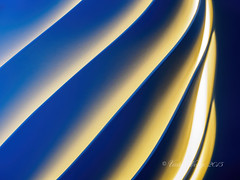 Spiral pattern (Victor Wong (sfe-co2)) Tags: blue light orange white abstract black color art colors spiral golden design pattern graphic contemporary wave twirl spinning gradient glowing swirl curve effect twisted striped textured concepts sprial