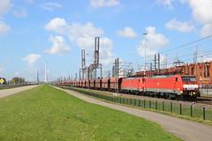 DB 189033 + 189044 Waalhaven 19-04-2016 (LTEmcn1206) Tags: db cargo dbs 189 dillingen schenker 033 waalhaven 044 erts