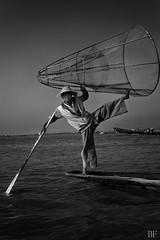 Fishman style! (poupette1957) Tags: life street costumes sea portrait people man black art beach nature canon boat noir photographie curious graphisme birmanie atmosphre noieetblanc humanisme imagesingulires