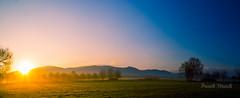 Golden Sunrise over Black Forest (strack_frank) Tags: sky panorama mountains sunrise landscape golden himmel landschaft sonnenaufgang schwarzwald blackforest goldenhour gegenlicht sunstar morgenlicht sonnenstern